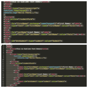 Code Indentation in Sublime Text