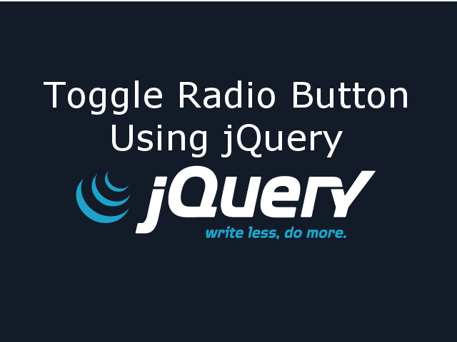 Toggle Radio Button using jQuery