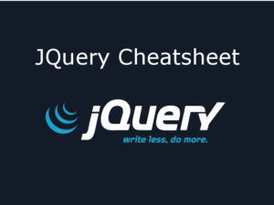 jQuery Cheatsheet Cover Image