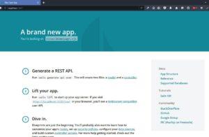New Sail js App on Windows