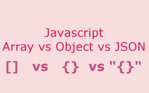 Javascript Array, Object and JSON