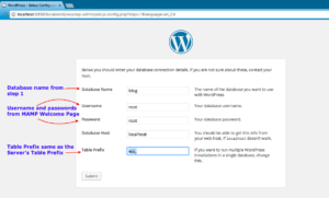 wordpress site setup